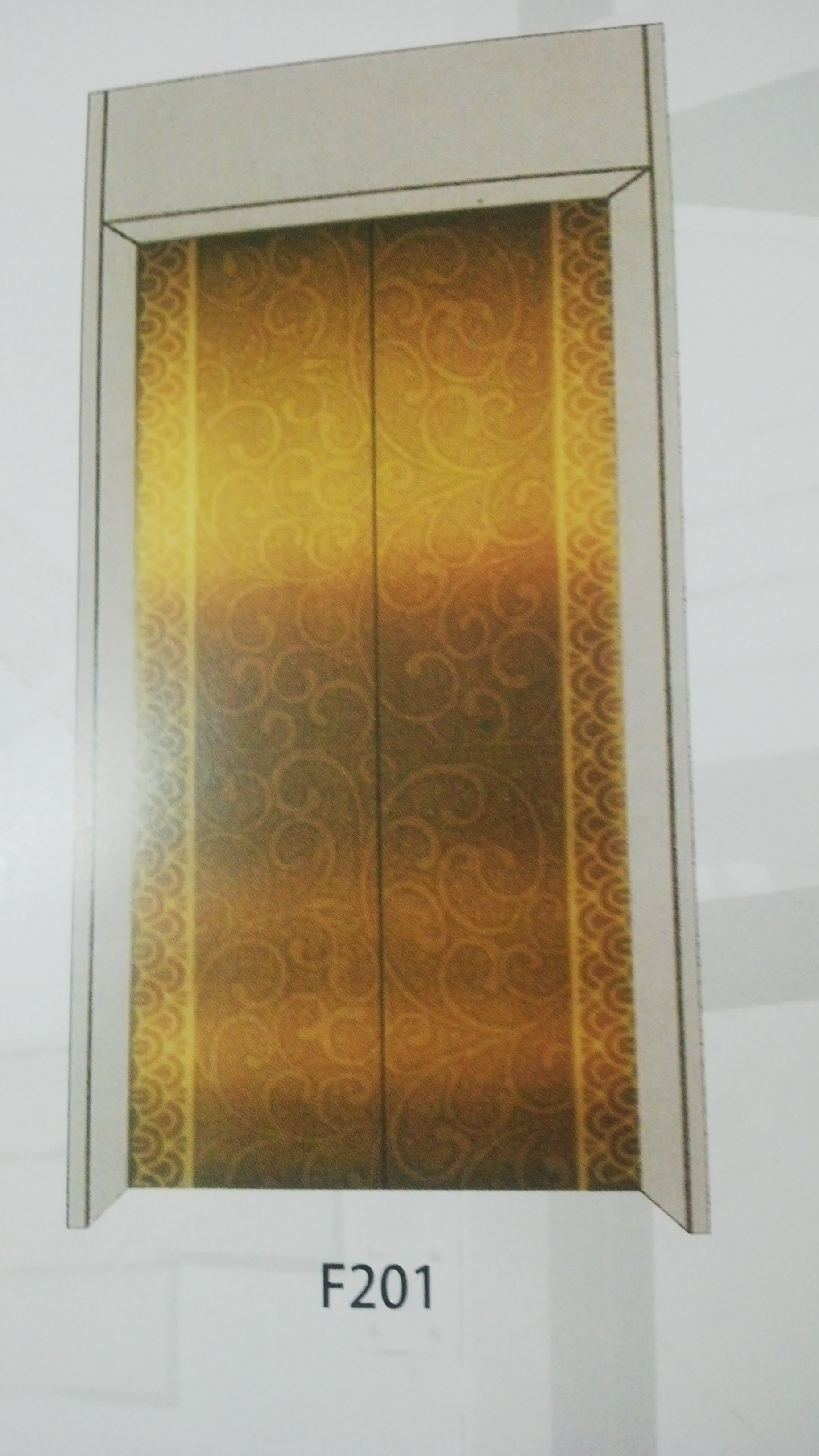 Mirror Etched Stainless Steel Gold For The Door Elevator